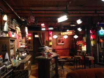 During the Warner Bros Studio Tour, we got to visit the amazing Friends set - and even got to sit on the couch!